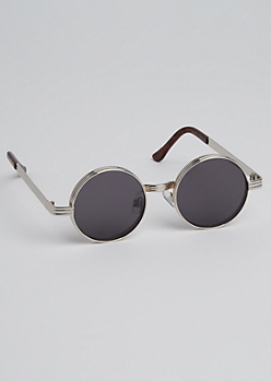 Rounded Metallic Sunglasses