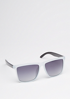 Two-Tone Square Retro Sunglasses
