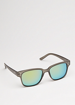 Green Mirror Lens Sports Sunglasses