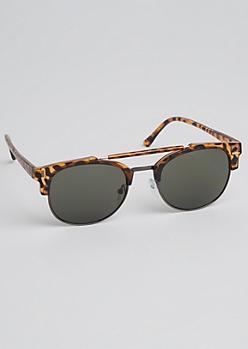 Tortoiseshell Half-Frame Sunglasses