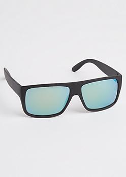 Black Matte Flat Top Sunglasses