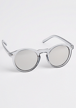Gray Keyhole Sunglasses