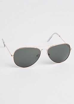 Dark Green Lens Aviators