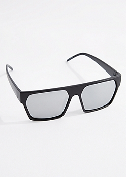 Retro Mirror Lens Square Sunglasses