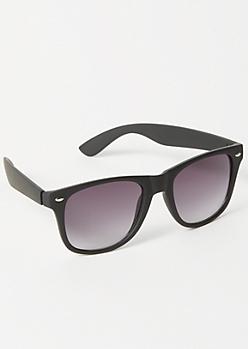 Black Retro Square Frame Sunglasses