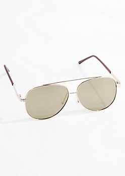 Golden Retro Aviators