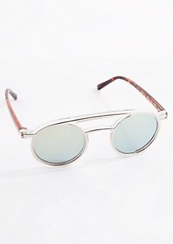 Double Brow Bar Sunglasses