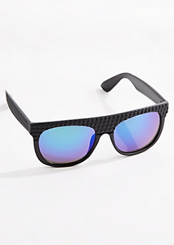 Black Blocked Frame Sunglasses