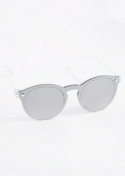 Silver Mirror Retro Sunglasses
