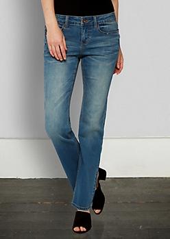 Medium Blue Vintage Bootcut Jean in Long
