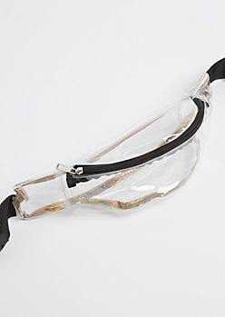Rose Gold Edged Clear Fanny Pack