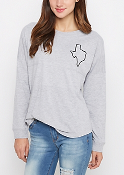 Texas Home State Drop Yoke Top
