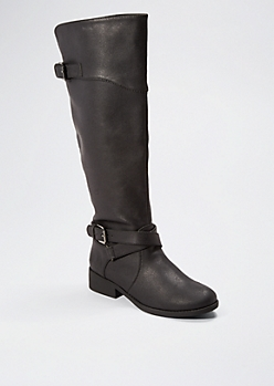 Black Baby's Got Buckle Boot By Qupid®