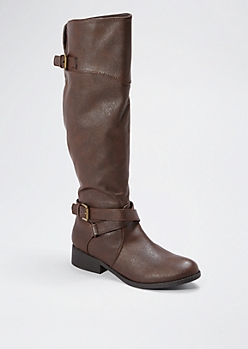 Brown Baby's Got Buckle Boot By Qupid®