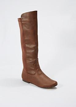 Brown Vintage Knee High Boot By Qupid®