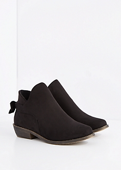 Black Bow Back Bootie