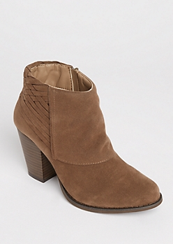 Basketwoven Heeled Bootie