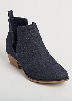 Denim Cutout Bootie By Olivia Miller