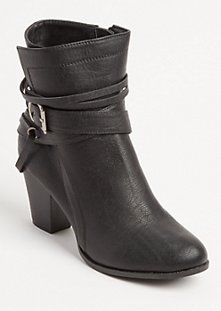 Buckle Wrapped Bootie By Olivia Miller