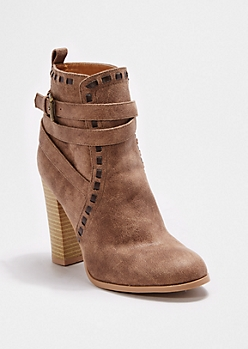 Stitched Heeled Bootie By Qupid®
