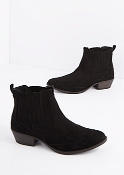 Black Western Bootie By Qupid