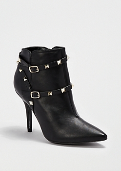 Black Studded Bootie By Qupid®