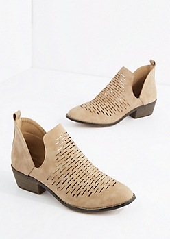 Taupe Cut-Out Bootie