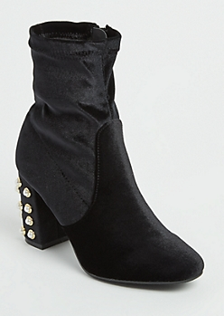 Pearl Dotted Ankle Bootie