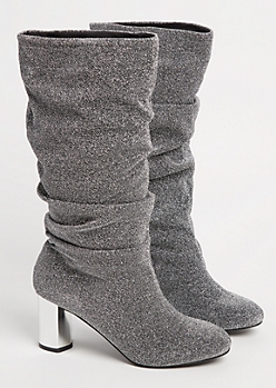 Metallic Slouch Bootie By Yoki
