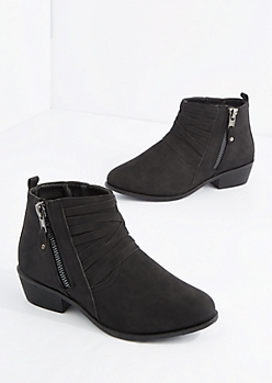 Black Strappy Heeled Bootie