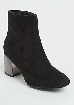 Black Mirror Heel Bootie By Hot Kiss