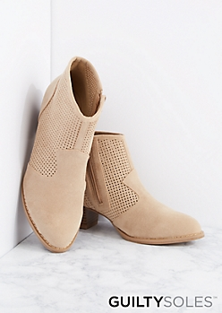 Terri Perforated Ankle Boot by GuiltySoles