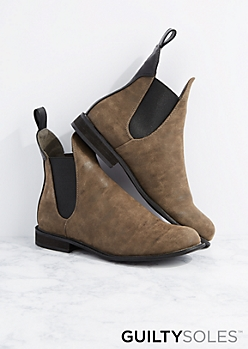 Lorraine Gored Chelsea Boot by GuiltySoles