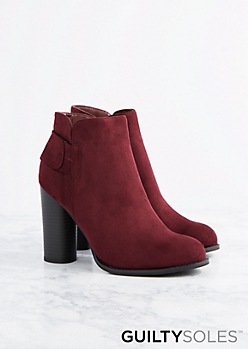 Johanna Cylinder Heel Ankle Boot by GuiltySoles