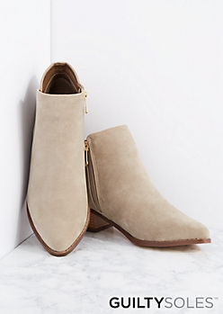 Taylor Vegan Suede Ankle Boot by GuiltySoles