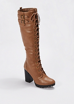 Lace-Up Heeled Boot by Wild Diva®