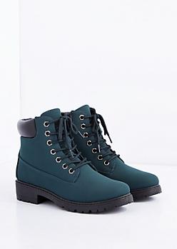 Dark Green Hiking Boot