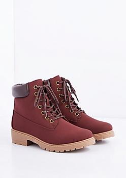 Burgundy Hiking Boot