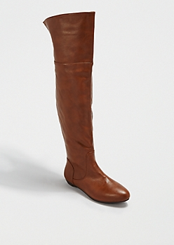 Cognac Faux Fur Lined Boot By Bamboo®