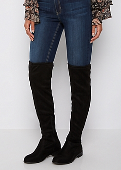 Black Tied Over The Knee Boot