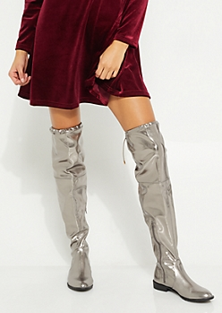 Metallic Over The Knee Boot