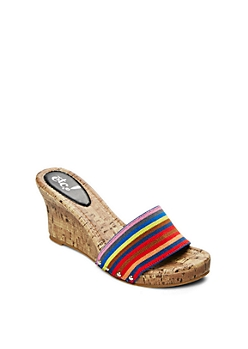 Multi Beach Babe Strapped Wedge Heels