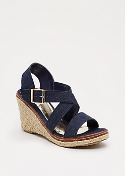Jean Espadrille Wedge Heel By Qupid®