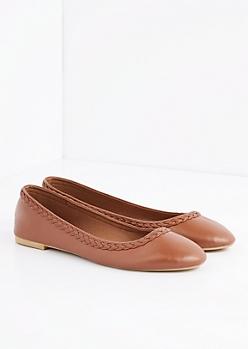 Braided Round Toe Flat