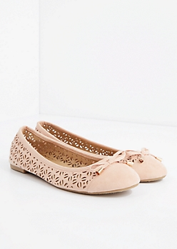 Pink Cut-Out Ballet Flat