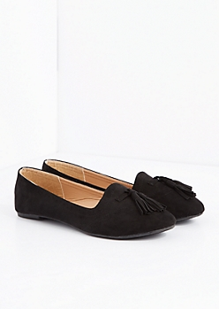 Black Tassel Ballet Flat