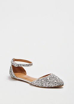 Sparkling Silver Strap Flat By Bamboo®