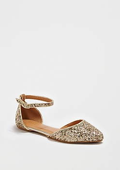 Sparkling Gold Strap Flat By Bamboo®