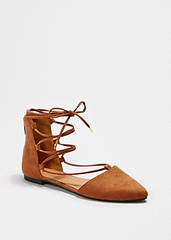 Camel Strappy Gladiator Flat By Qupid®