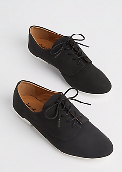 Black Microgore Oxfords